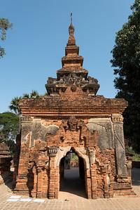 Stupa at Yadana Hsemee (Hsimi) Pagoda Complex, Inwa, Burma (Myanmar)