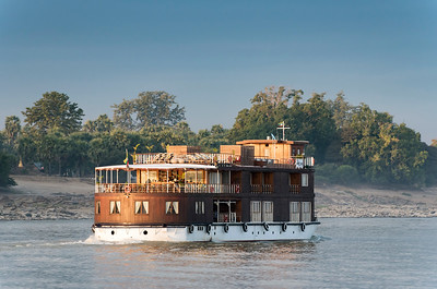 Irrawaddy (Ayeyarwady) River Cruise - Boat between Mandalay and Bagan, Burma (Myanmar)