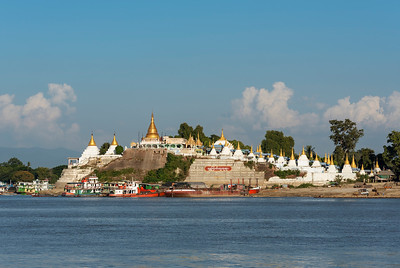 Pagodas near Yadanabon Bridge