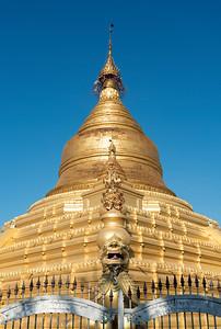 Kuthodaw Pagoda (Mahalawka Marazein) Buddhist stupa in Mandalay, Burma (Myanmar)