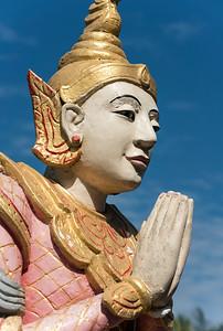 Nat deity statue, Uzina Pagoda (U Zina Paya) in Mawlamyine (Mawlamyaing), Mon State, Burma (Myanmar)