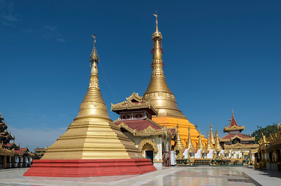Kyaik Tan Lan Pagoda (Kyaikthanlan Paya) in Mawlamyine (Mawlamyaing), Mon State, Burma (Myanmar)
