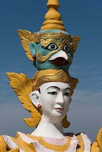 Nat spirit statue at Kyaik Tan Lan (Kyaikthanlan) Pagoda in Mawlamyine (Mawlamyaing), Burma (Myanmar)