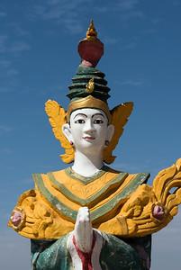 Nat deity statue at Kyaik Tan Lan (Kyaikthanlan) Pagoda in Mawlamyine (Mawlamyaing), Burma (Myanmar)