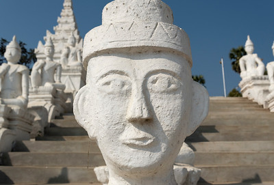 Close-up of nat statue at Settawya Paya, Mingun, Burma (Myanmar)