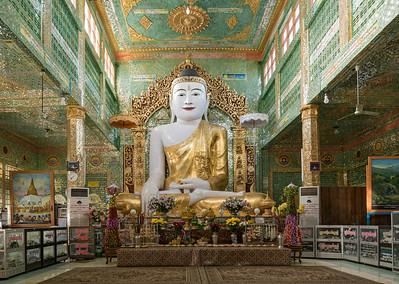 Buddha image at Soon U Ponya Shin Pagoda, Sagaing Hill near Mandalay, Burma (Myanmar)