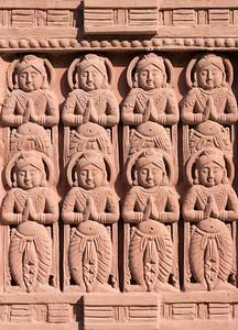 Decoration of stupa at Sitagu International Buddhist Academy in Sagaing near Mandalay, Burma (Myanmar)
