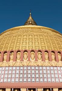 Close-up of stupa at Sitagu International Buddhist Academy in Sagaing near Mandalay, Burma (Myanmar)