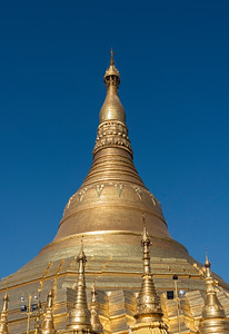 Golden stupa of Shwedagon Pagoda, Yangon (Rangoon), Myanmar (Burma)