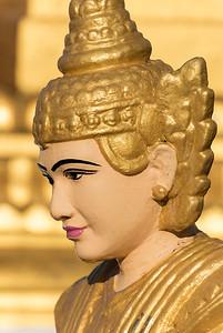 Spirit (nat) statue at Shwedagon Pagoda, Yangon (Rangoon), Myanmar (Burma)