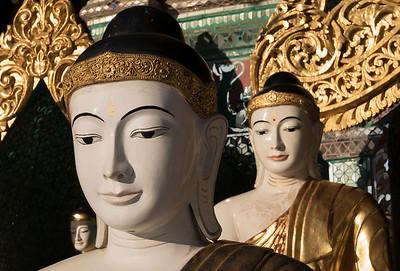 Koo Chein Kan and Ma Kyee Kyee Hall, Shwedagon Pagoda, Yangon (Rangoon), Myanmar (Burma)