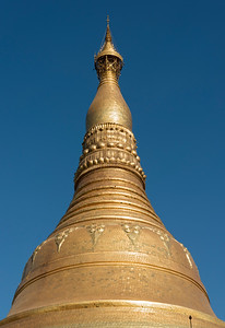 Golden spire of Shwedagon Pagoda, Yangon (Rangoon), Myanmar (Burma)