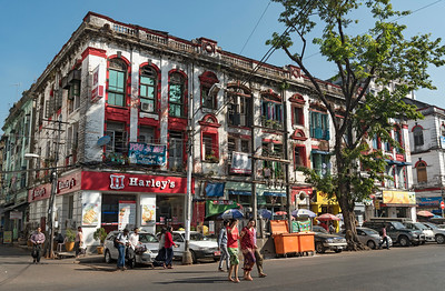 Colonial era building in downtown Yangon (Rangoon), Burma (Myanmar)