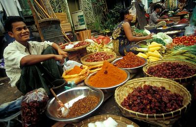Rangoon Fresh Produce Market, Burma (Myanmar)