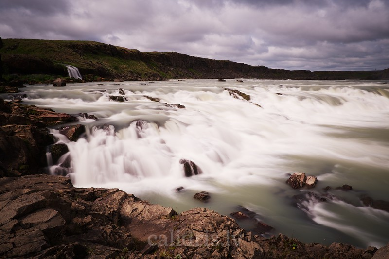 Waterfall on Þjórsá river, Iceland