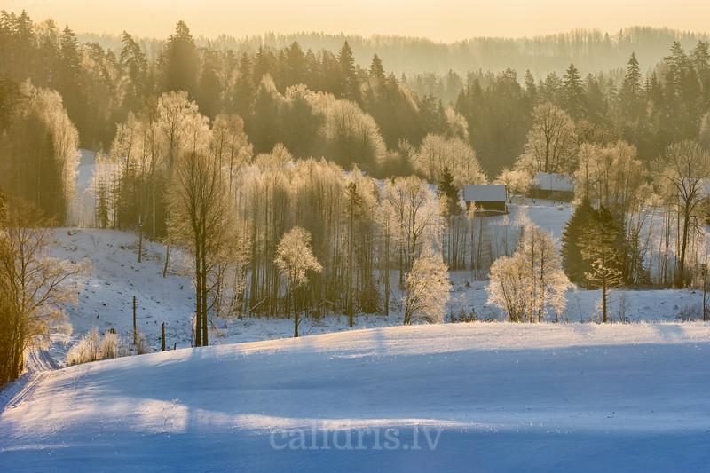 Skats no Kornetu torņa ziemā