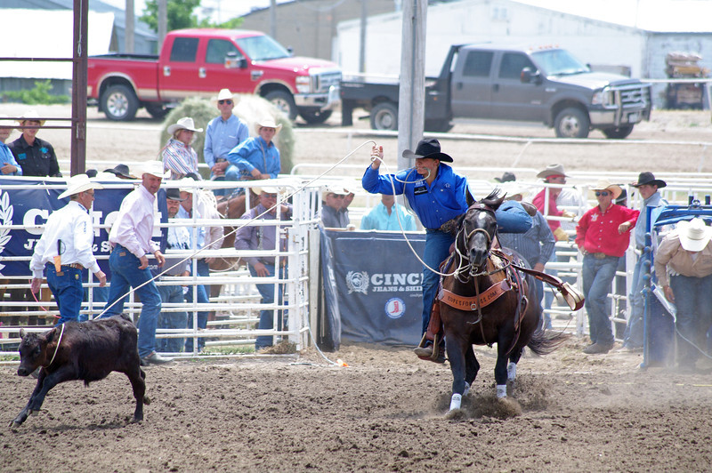 Nebraska High School Rodeo Finals tie-down roping, Hastings, NE (Jun 2013)