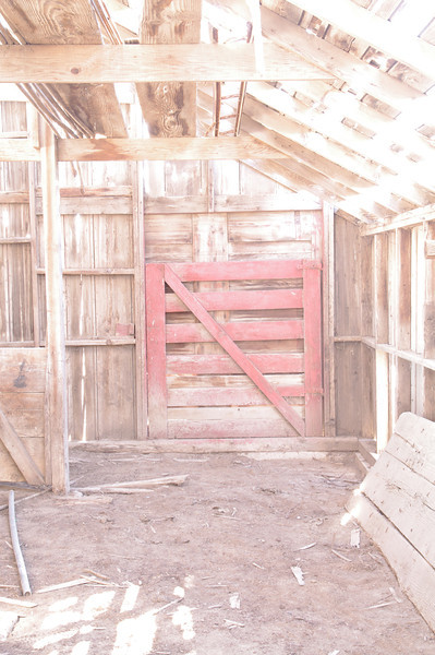 Barn door, barn gate, abandoned barn, Miller, NE (Nov 2012, HDR)