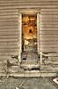 Back entry, abandoned home, Miller, NE (Nov 2012, HDR)