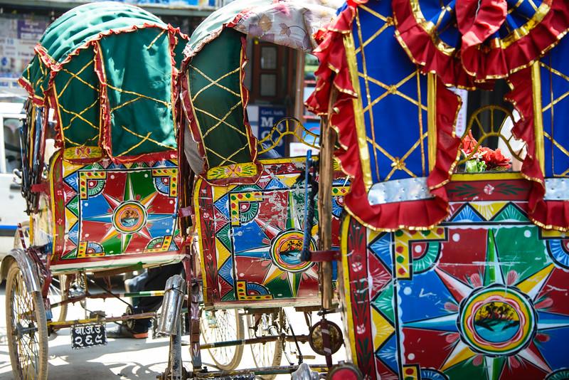 Rikshaws, Kathmandu, Nepal