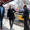 JACKSON HEIGHTS, QUEENS - March 14, 2021: for NEWS. City Comptroller and Mayoral Candidate Scott Stringer meets with business owners affected by a 4-Alarm fire on 74th Street in Jackson Heights. (Credit Photo by: Taidgh Barron)