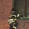 NEW YORK - April 23, 2021: for NEWS. FDNY Firefighters battle an early morning high rise fire that broke out around 2 o'clock in the morning on the 2nd Floor of 6 Stuyvesant Oval in Stuyvesant Town. The box was transmitted as a 10-77 M0476. (Credit Photo by: Taidgh Barron)