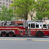 NEW YORK - April 23, 2021: for NEWS. FDNY Firefighters take up from a fire in the VA New York Harbor Medical Center. The box was transmitted as M0610. (Credit Photo by: Taidgh Barron)