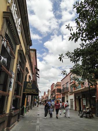 Old town of San Luis Potosi, Mexico.