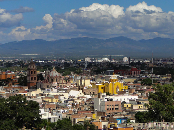 Panoramic view of the Old Town of San Luis Potosi in Mexico.