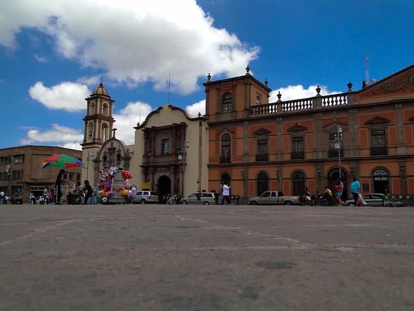 Main town square of San Luis Potosi, Mexico.