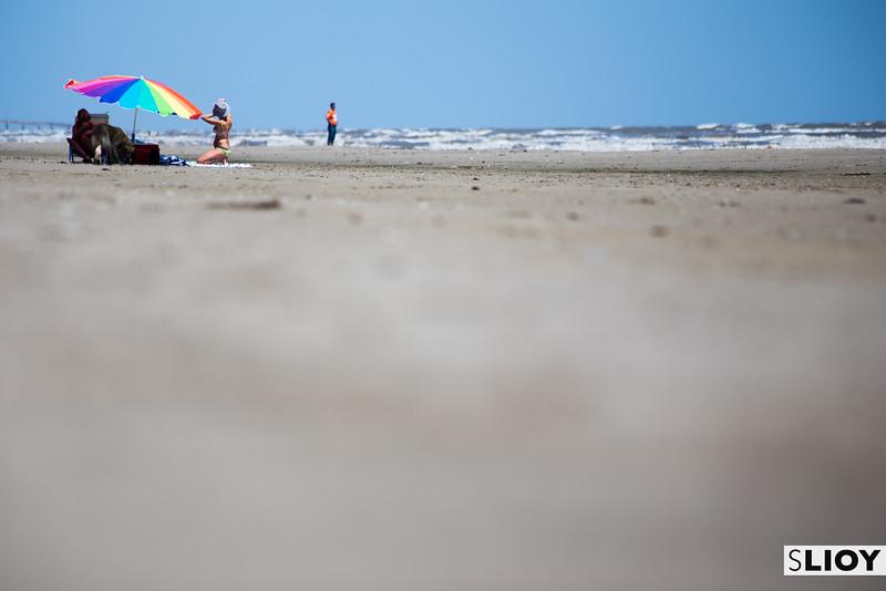 The Beaches of Galveston Islands in Texas.