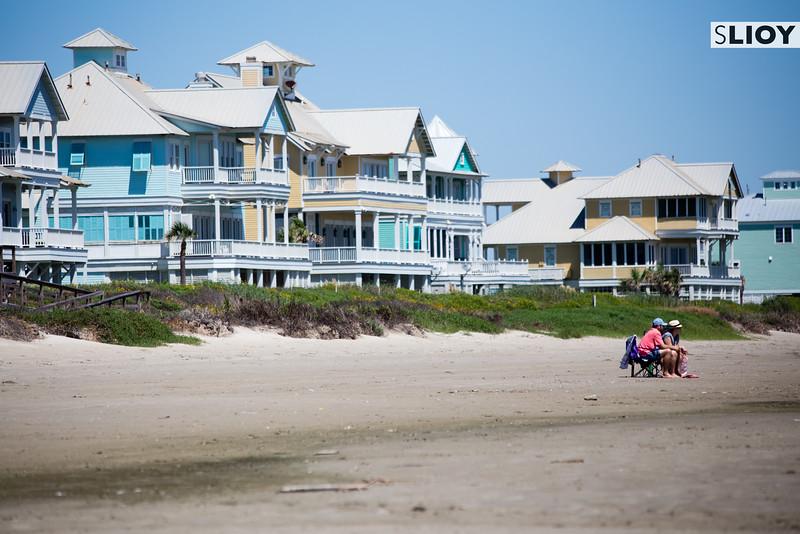 Beach Houses on Galveston Island.