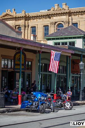 Storefronts of Historic Main Street Galveston.