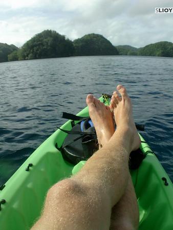 kayaking in rock islands palau