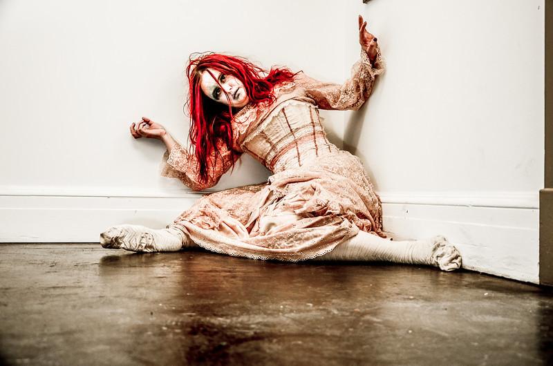 Broken Doll Horror Themed photo shoot