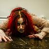 Broken crawling horror themed photo shoot