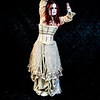 Horror Themed Photo Shoot crazy lady with knife