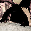 Daemon on the stairs set 1 horror themed photo shoot