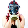 Gas Mask Girl set 1 horror macabre