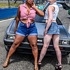 Grid Girls Kris and Pinky rocking a delorian
