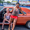 Grid Girls Pinky and Kris with a 1960's Charger