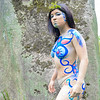 Kai - body paint - peasants and goddesses photo shoot