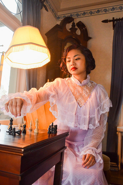 Tiffany prim and proper and Chess set 2