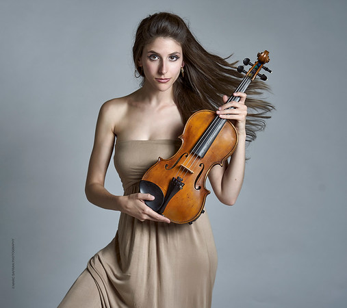 Sabrina Tabby - violinist for cross over string quartet Atlys