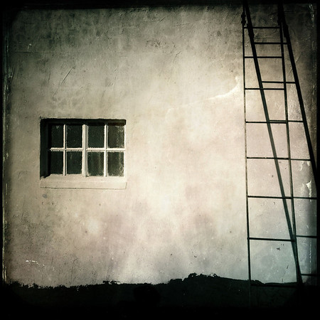 I finally made it to my destination.  A squat, cubical structure with a small window on the south side. A rickety ladder beckoned me to climb...