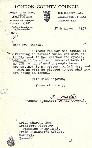 Letter from J.L. Martin