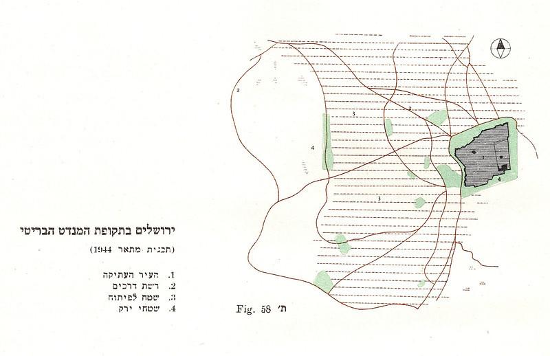 Fig. 58. Jerusalem under British Mandate