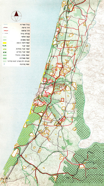 Fig. 69. Tel Aviv Region Open Spaces Map