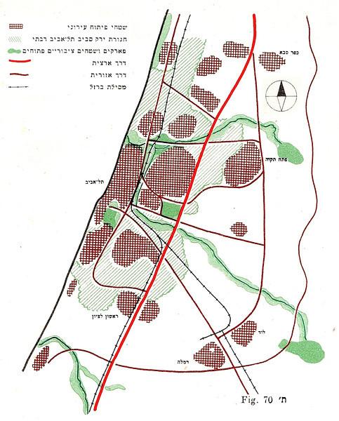 Fig. 70. Diagram of Greater Tel Aviv