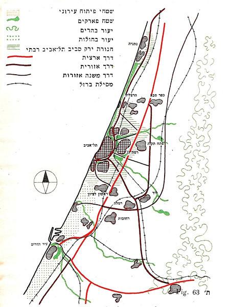Fig. 63. Diagram of Tel Aviv Regional Plan